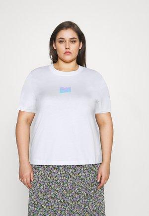 SHINE BADGE TEE - T-shirts basic - bright white