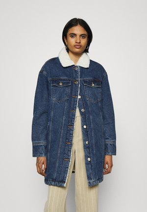 ONLWHITNEY  LIFE  JACKE - Classic coat - dark blue denim
