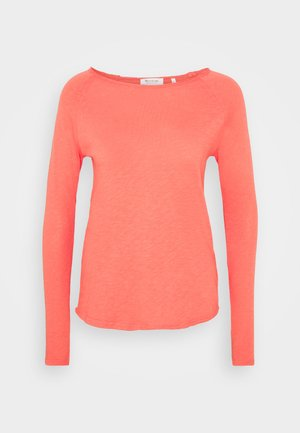 Long sleeved top - spiced coral