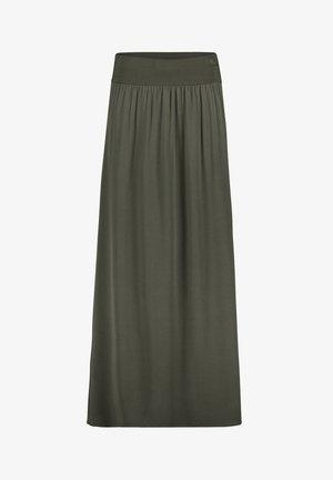 MIT GUMMIZUG - A-line skirt - dunkelgrün