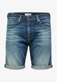 Selected Homme - BIO-BAUMWOLL - Jeansshorts - dark blue denim - 5