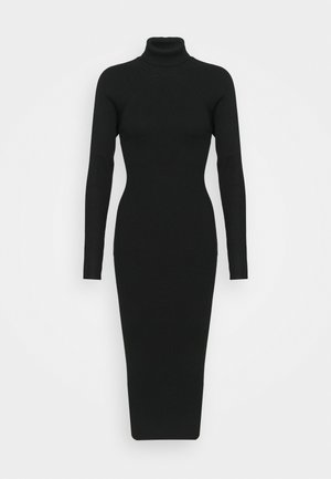 CUT OUT BACK MIDAXI DRESS - Tubino - black