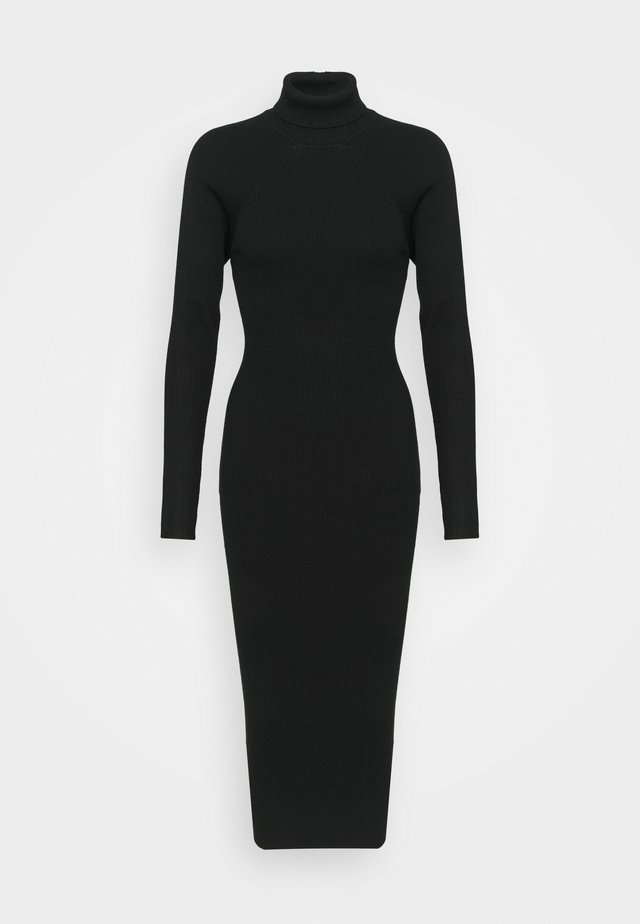 CUT OUT BACK MIDAXI DRESS - Robe pull - black