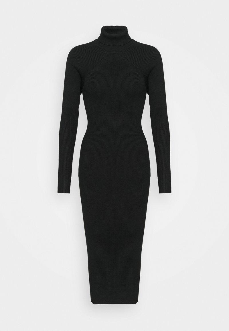 Missguided - CUT OUT BACK MIDAXI DRESS - Etuikjole - black