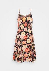 PIECES Tall - PCNYA SLIP BUTTON DRESS - Day dress - black - 1