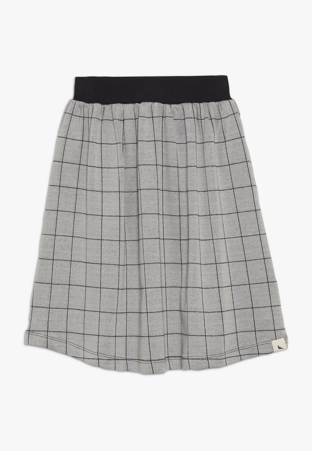 CHECK MIDI SKIRT - Falda acampanada - grey/black