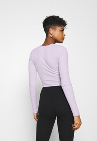Hollister Co. - ULTRA CROP CUT OUT - Long sleeved top - orchid petal - 2