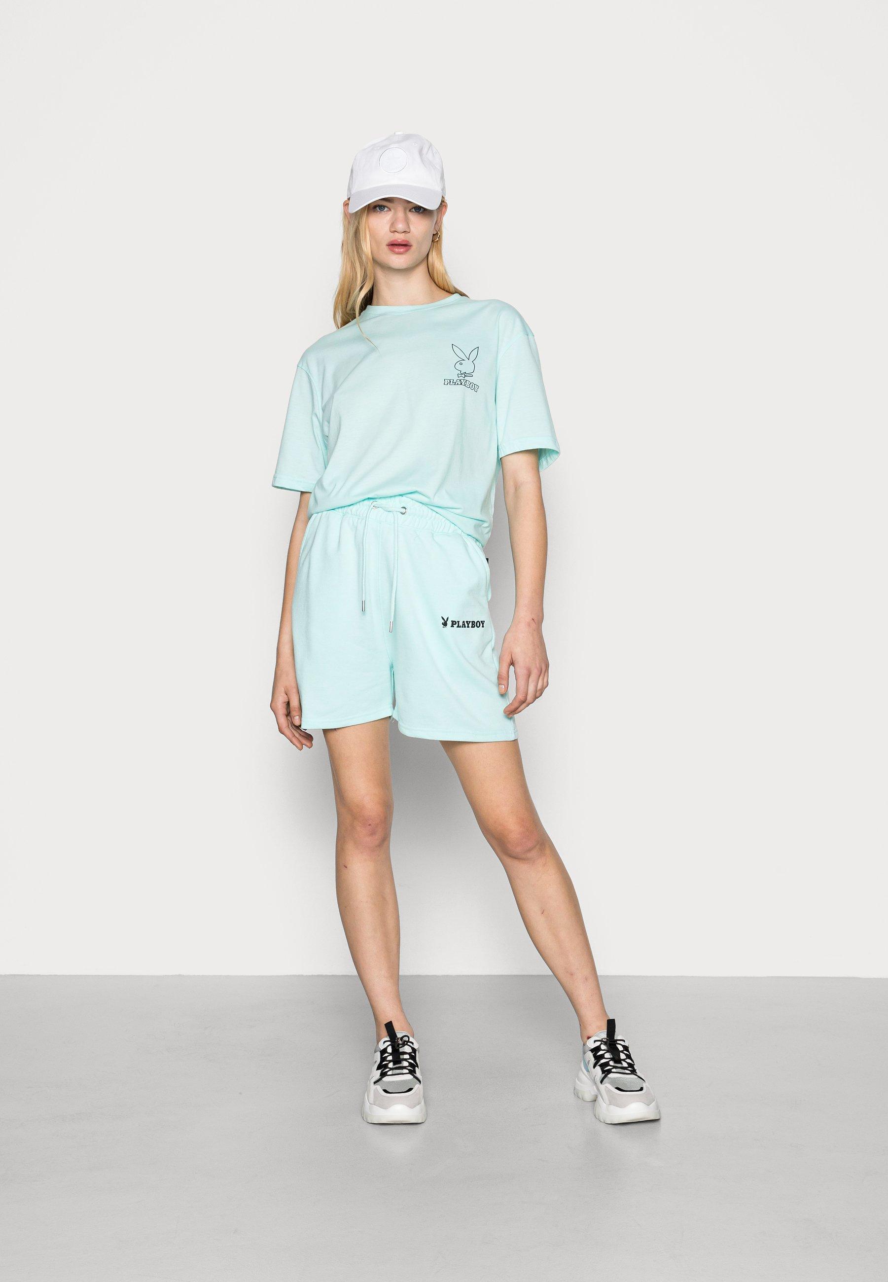 Donna PLAYBOY LOGO OVERSIZED TEE - T-shirt basic