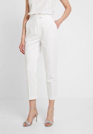 BRIDAL PANTS - Spodnie materiałowe - snow white