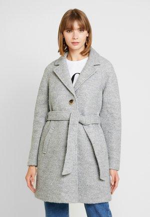 Trenčkot - light grey melange