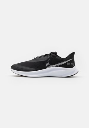QUEST 3 SHIELD - Neutral running shoes - black/metallic silver/dark smoke grey/white