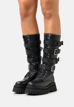 GROOVY CHUNKS - Lace-up boots - black
