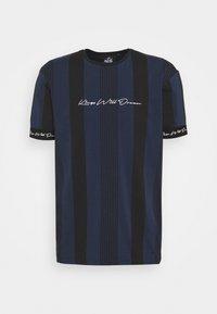 Kings Will Dream - VEDTON STRIPE TEE - T-shirt imprimé - black iris/black - 4