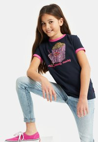 WE Fashion - Print T-shirt - dark blue - 1