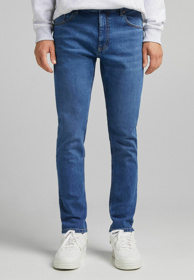 Bershka - SLIM - Jeans slim fit - dark blue