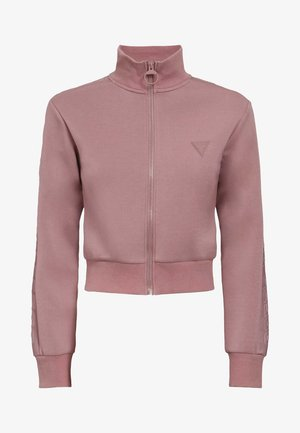 veste en sweat zippée - rose