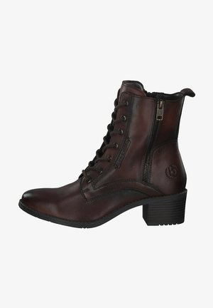 Lace-up ankle boots - mid brown