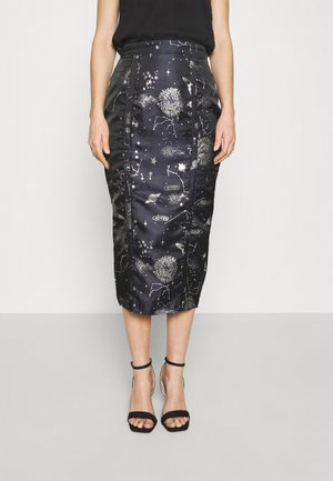 COSTELLO ASTRO MIDI SKIRT - Pencil skirt - navy