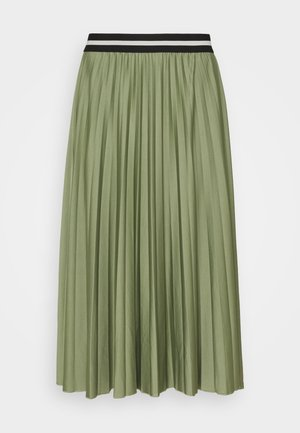 PLEATED SKIRT - Plisovaná sukně - khaki