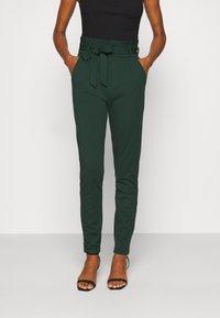 Vero Moda Tall - VMEVA PAPERBAG PANT - Trousers - pine grove - 0