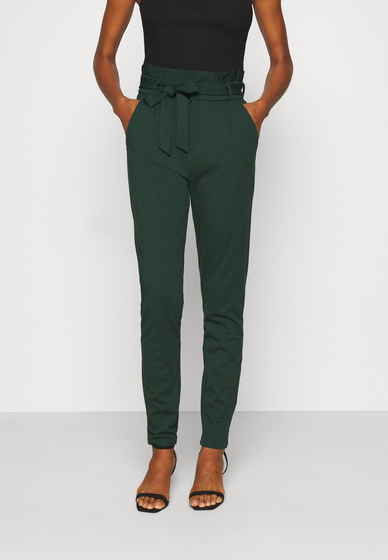 Vero Moda Tall - VMEVA PAPERBAG PANT - Trousers - pine grove