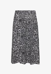 Even&Odd - BASIC - Midi A-line skirt - A-line skirt - white/black - 0