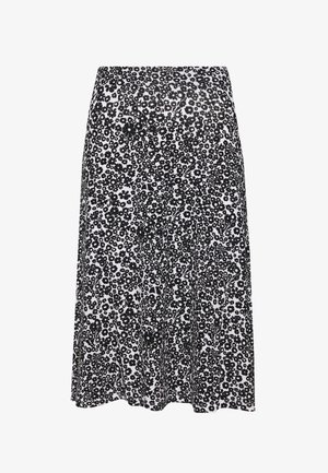 BASIC - Midi A-line skirt - A-line skjørt - white/black