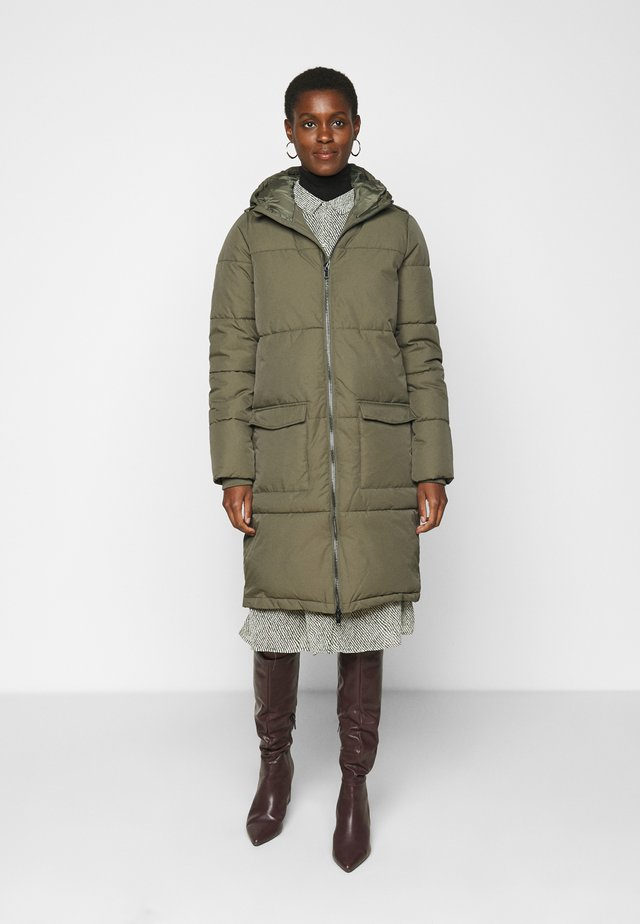 OBJZHANNA LONG JACKET - Winter coat - burnt olive