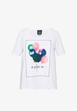 VALDO - Print T-shirt - bianco ottico