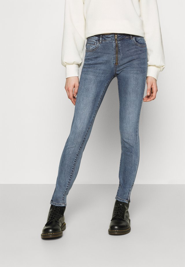 NMKIMMY ZIP - Jeans Skinny Fit - medium blue denim