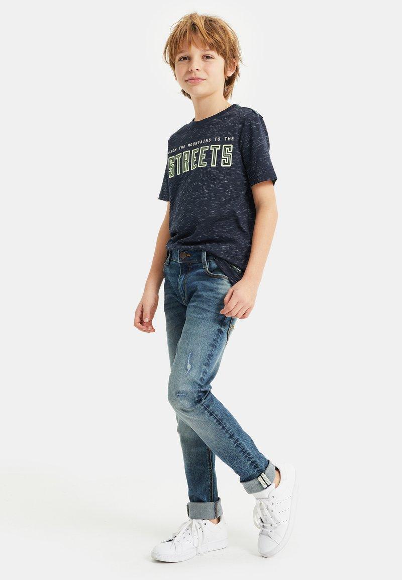 WE Fashion - T-shirt con stampa - navy blue