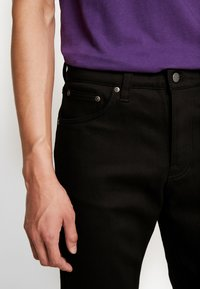 Nudie Jeans - STEADY EDDIE - Straight leg jeans - dry ever black - 3