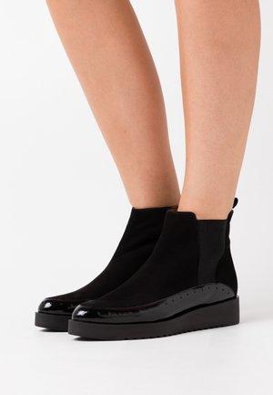 AMANDA - Platform ankle boots - charoll black