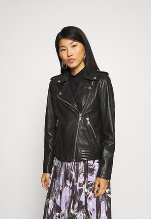 PERFECTO - Leather jacket - black