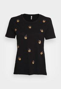 ONLY - ONLKITA LIFE NUT BOX - T-shirt print - black - 3