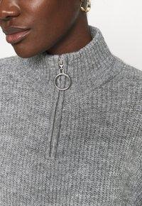 Zign - Half zip jumper - Strickpullover - mid grey - 5