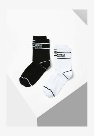 2 PACK - Chaussettes - black  white
