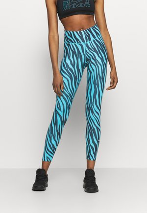 ONE 7/8 - Leggings - chlorine blue/white