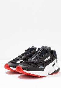 adidas Originals - FALCON ZIP - Sneakers - core black/footwear white/red - 4