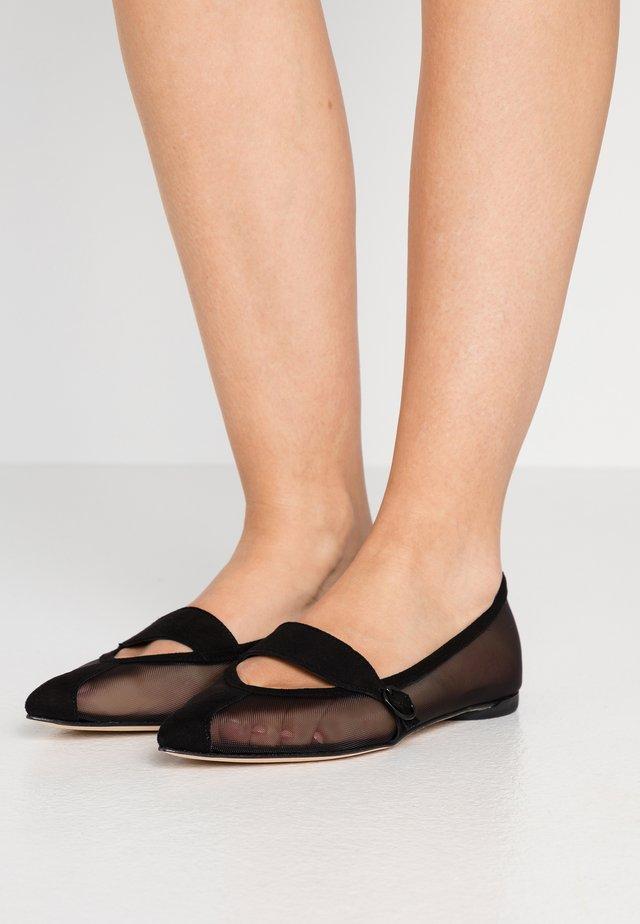 MYLEN - Ankle strap ballet pumps - noir
