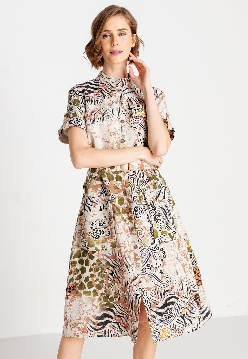 Ivko - PRINTED SAFARI - Day dress - white coffee