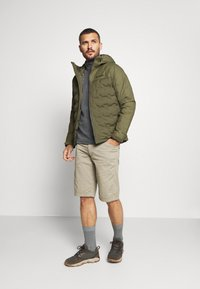 Columbia - GRAND TREK JACKET - Down jacket - stone green - 1