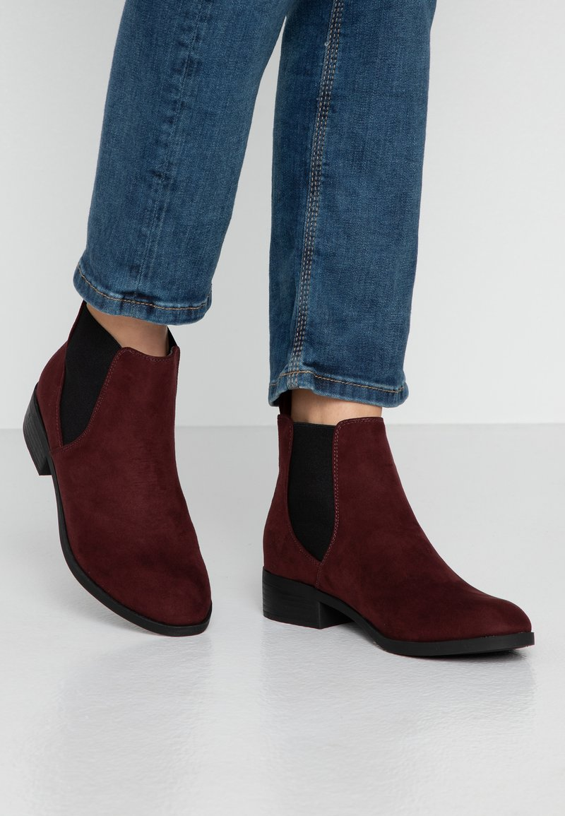 Dorothy Perkins - MORGAN CHELSEA  - Boots à talons - burgundy