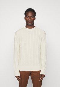 J.LINDEBERG - HENRY CABEL SWEATER - Stickad tröja - cloud white - 0