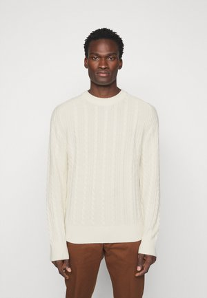HENRY CABEL SWEATER - Jumper - cloud white
