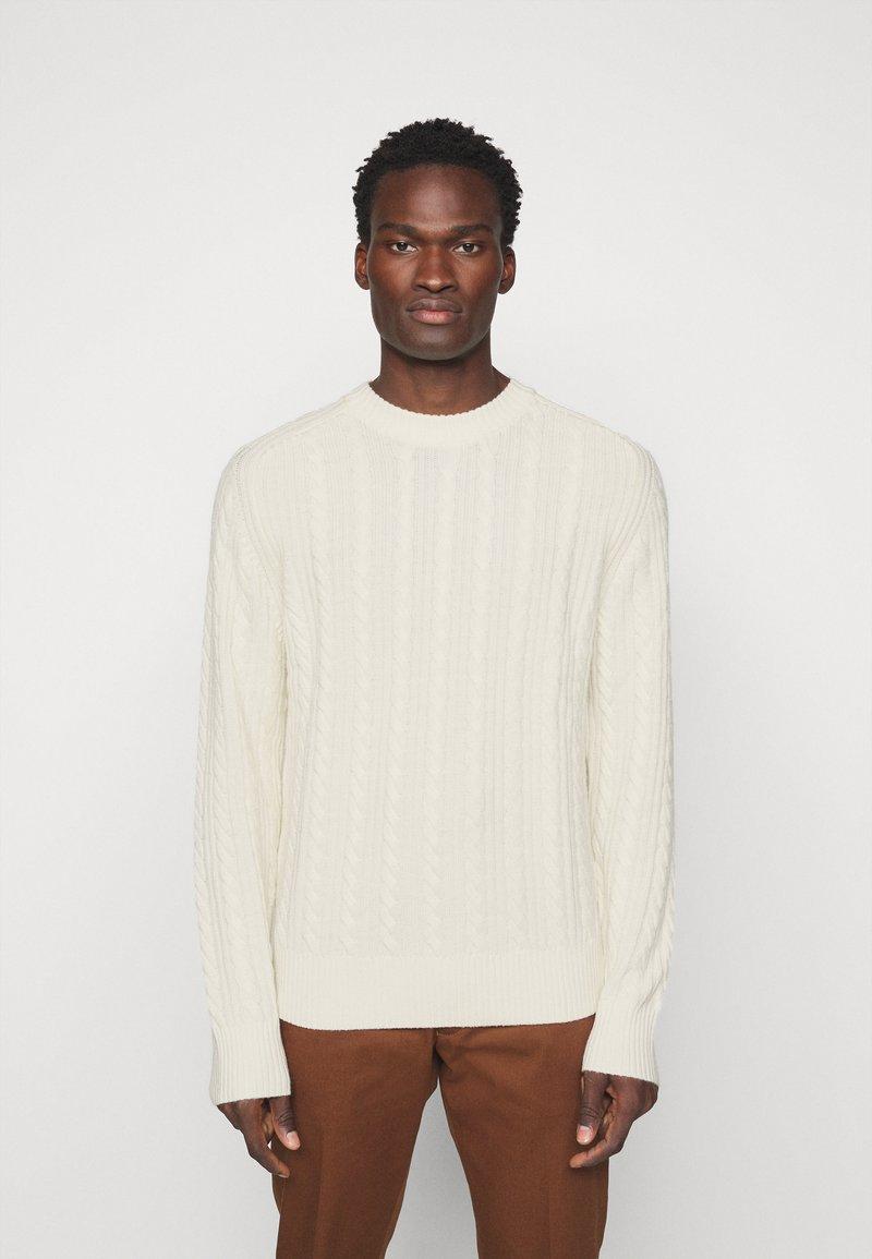 J.LINDEBERG - HENRY CABEL SWEATER - Stickad tröja - cloud white