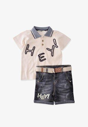 SET - Short en jean - beige