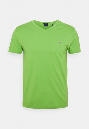 ORIGINAL SLIM V NECK - Basic T-shirt - foliage green