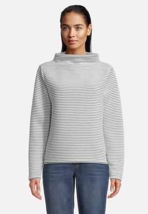 MIT KRAGEN - Sweatshirt - weiß/schwarz