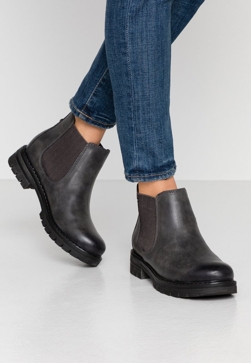 Marco Tozzi - Ankle boots - dark grey antic